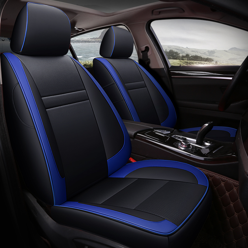 Color Block Modern Style PU Leather Material Custom Car Seat Cover