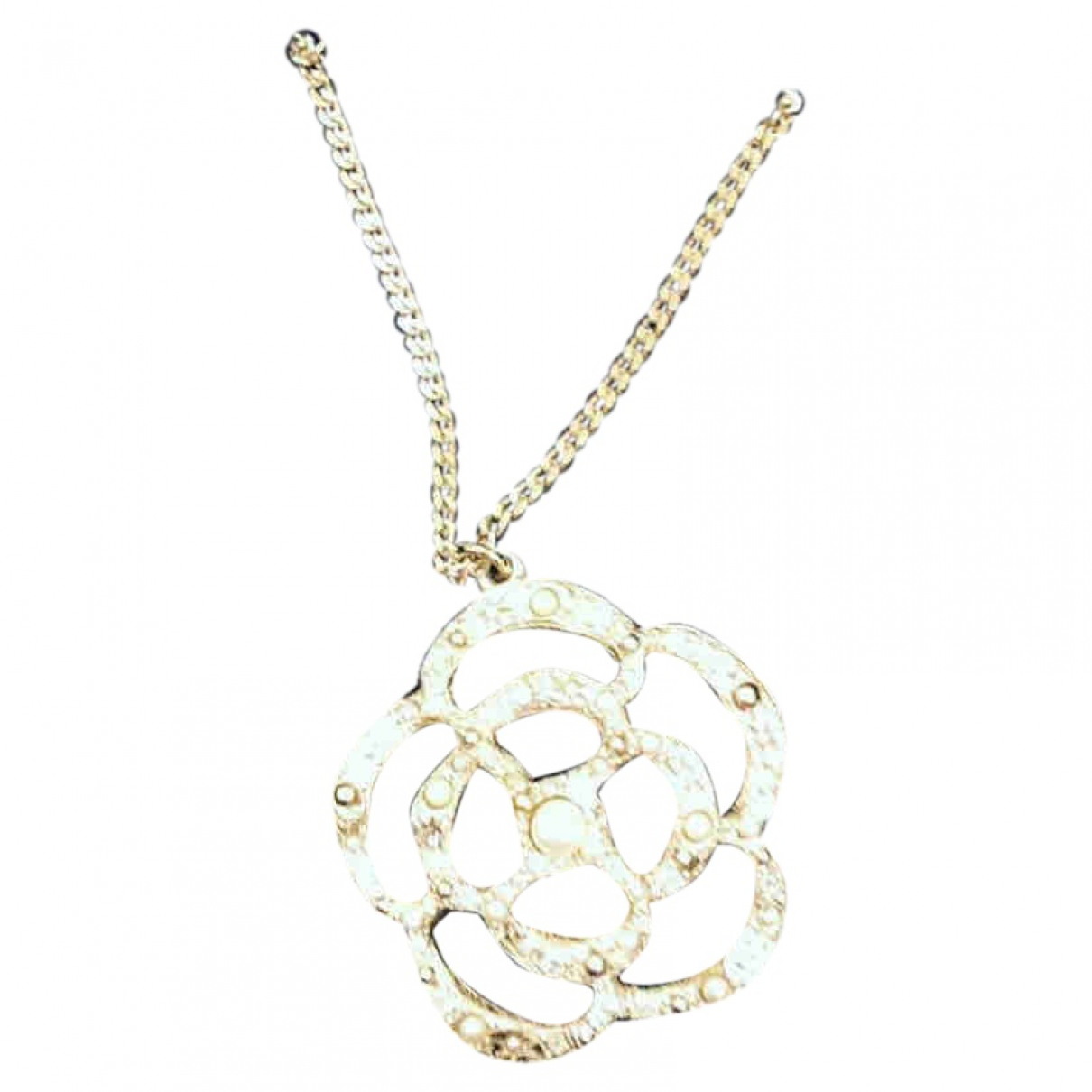 Chanel Camélia Gold Metal necklace for Women \N
