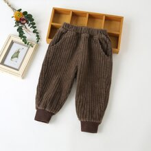 Toddler Boys Corduroy Solid Carrot Pants