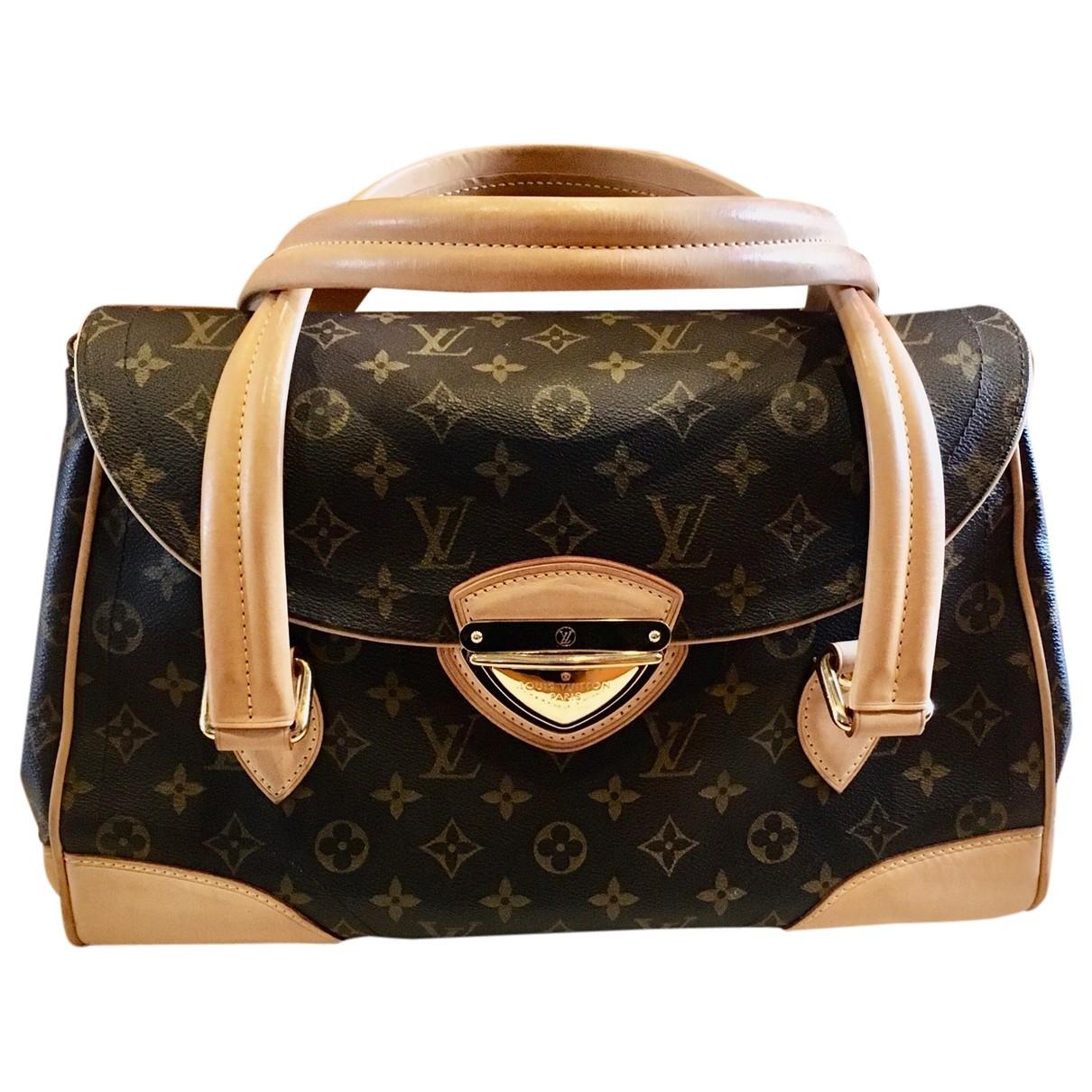 Louis Vuitton - Sac a main Beverly pour femme en toile - marron