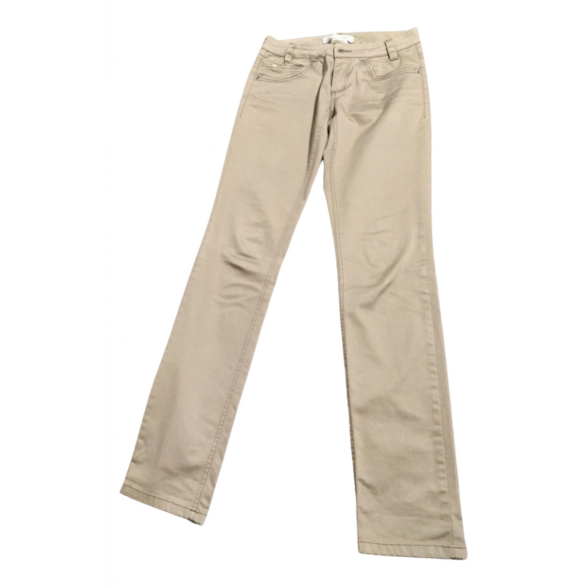 Intrend \N Beige Cotton Trousers for Women 36 FR