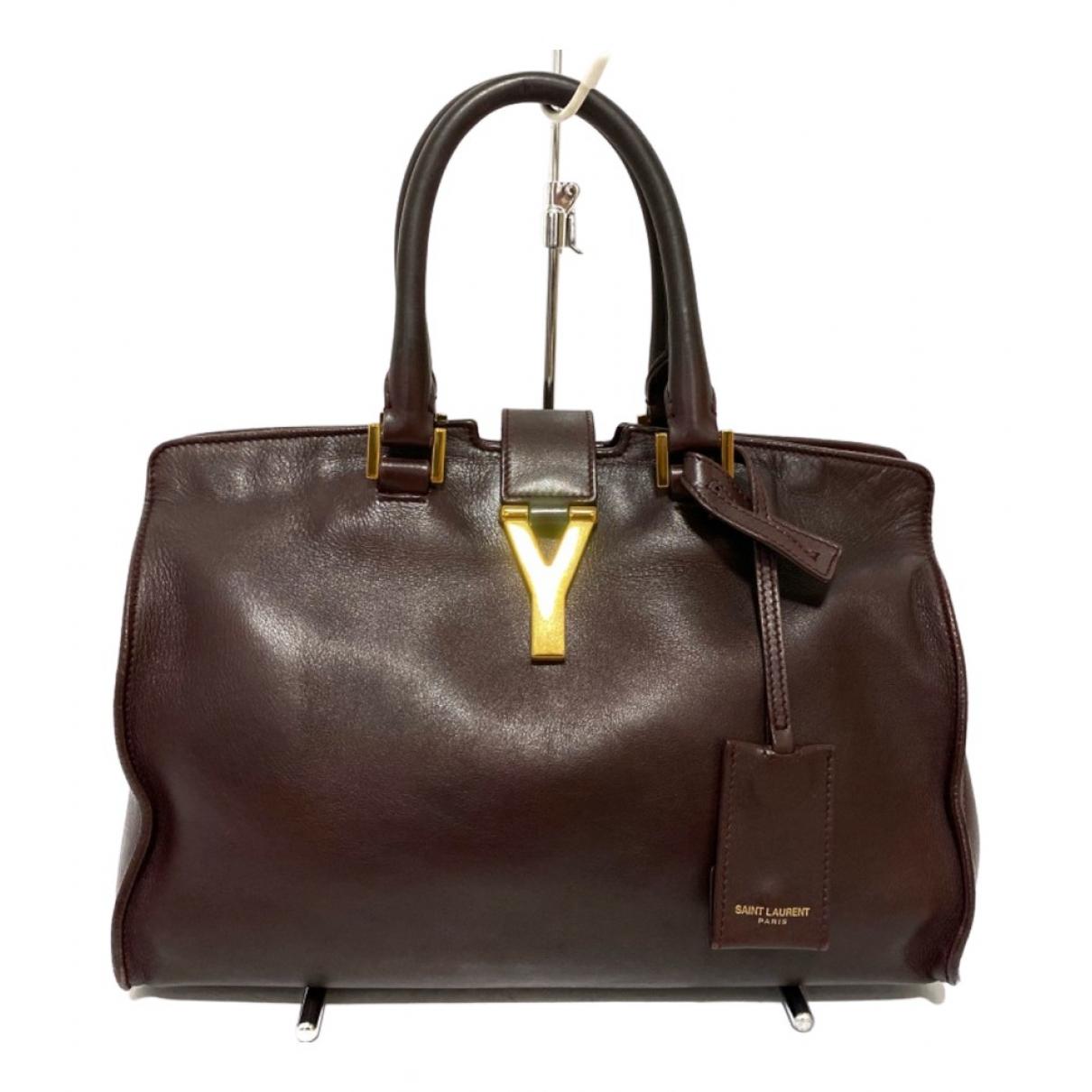 Saint Laurent Chyc Handtasche in  Braun Leder