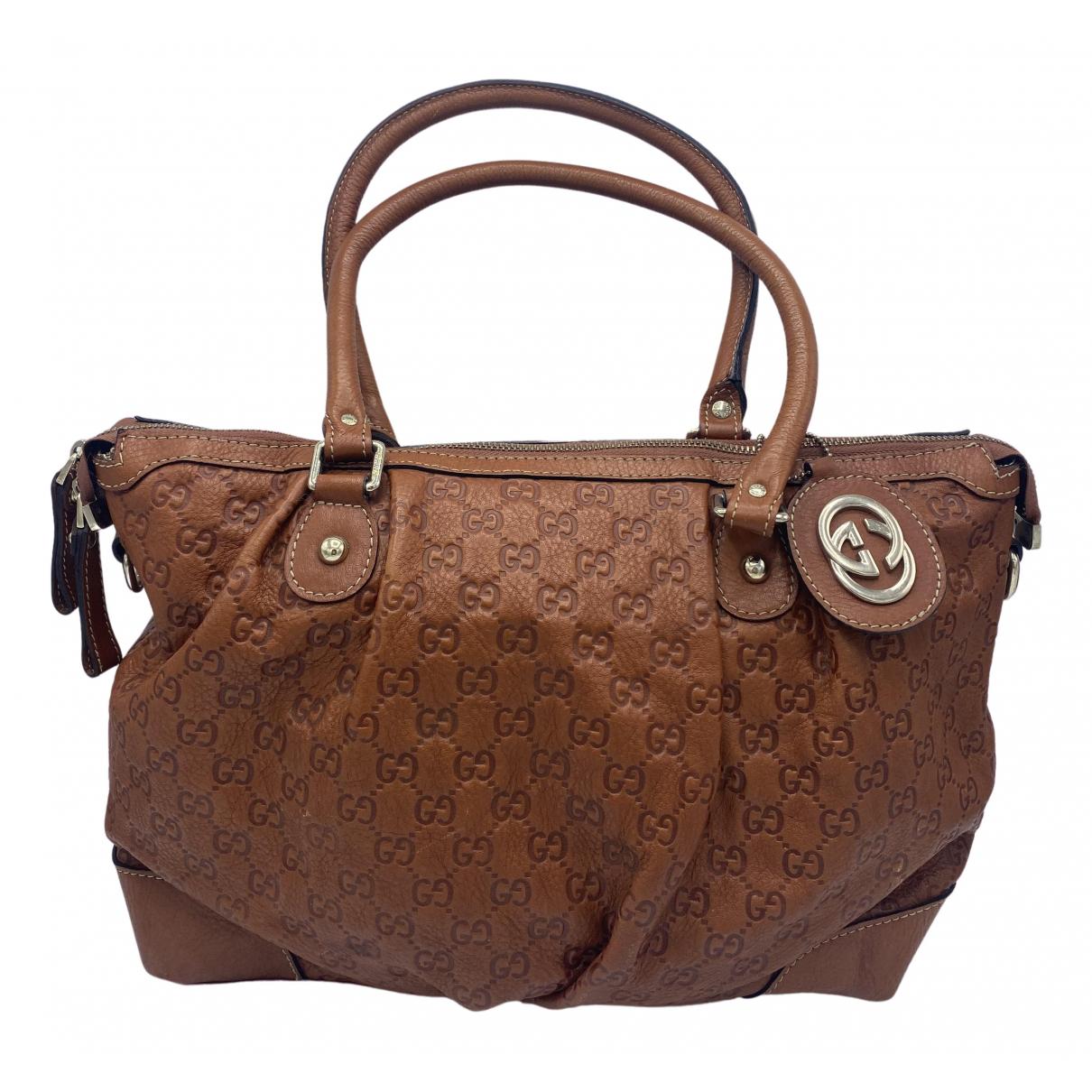 Gucci - Sac a main   pour femme en cuir - marron