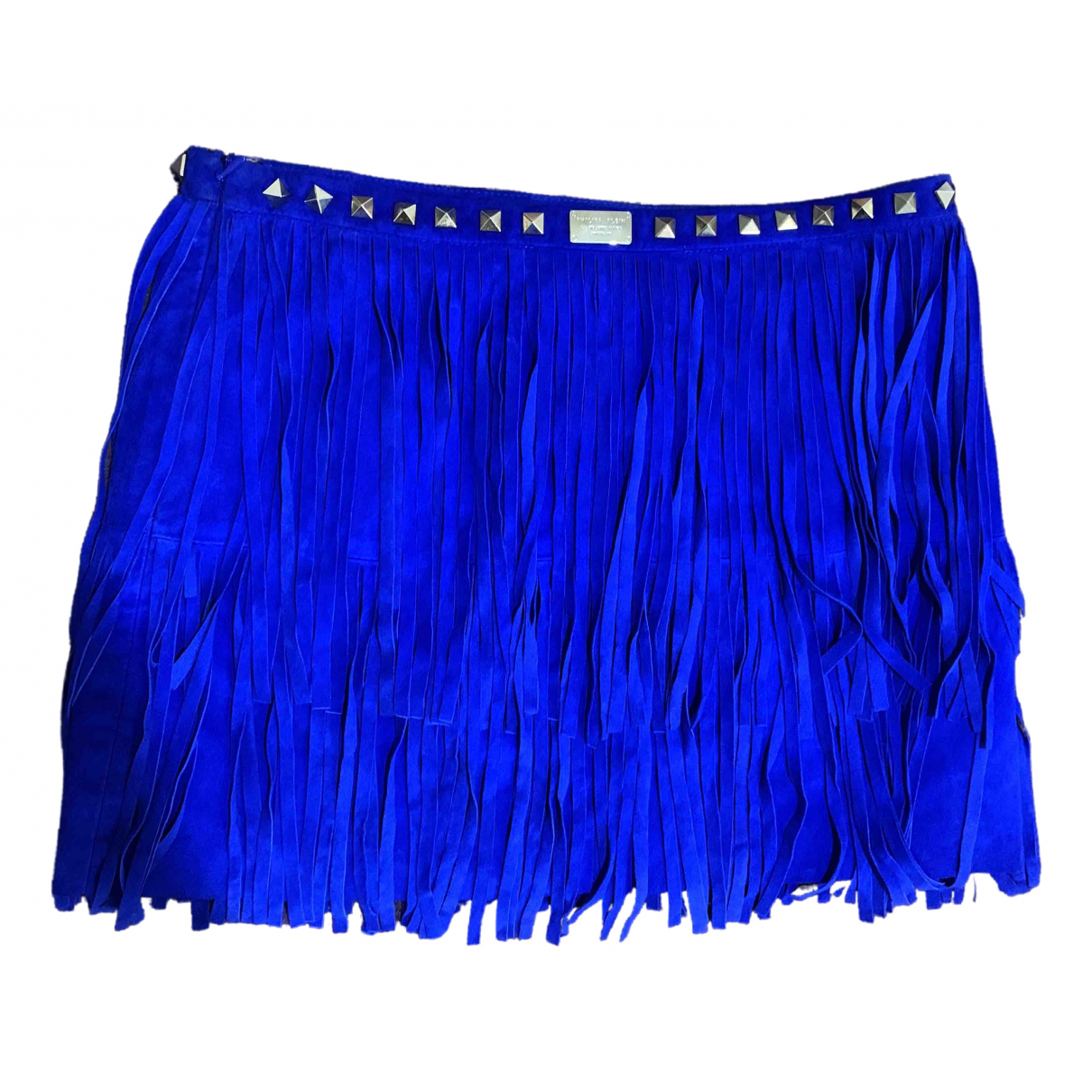 Philipp Plein \N Blue Leather skirt for Women XS International