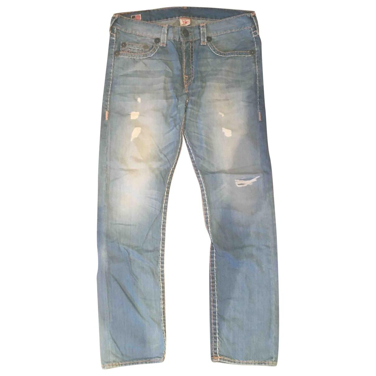 True Religion \N Blue Cotton Jeans for Men 36 US