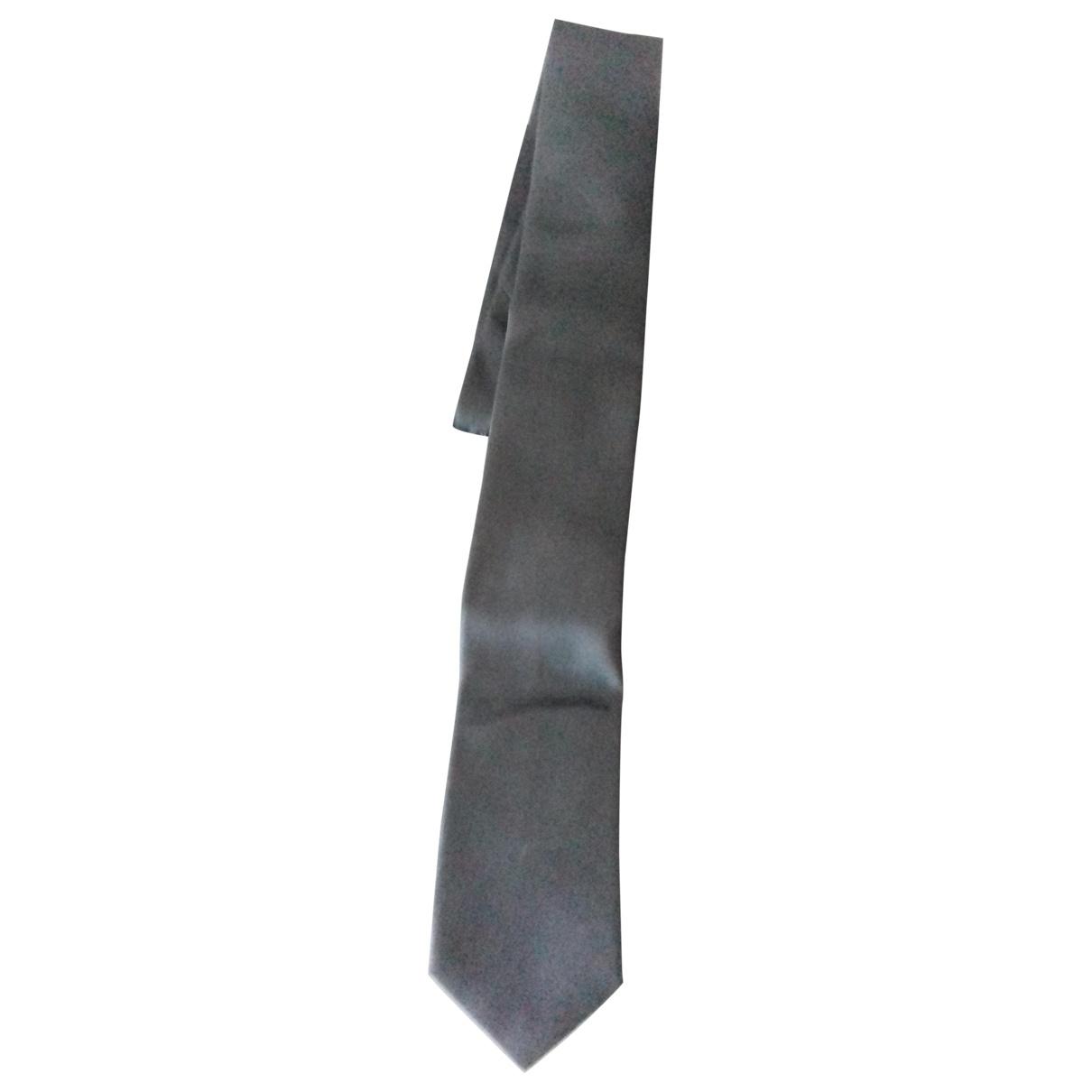 Boss \N Anthracite Silk Ties for Men \N