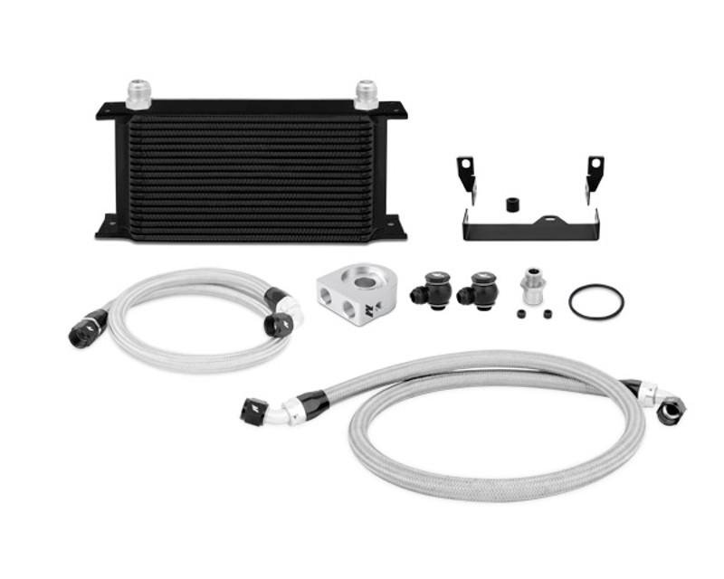 Mishimoto MMOC-WRA-07TBK Black Thermostatic Oil Cooler Kit Jeep Wrangler 3.8L V6 07-11