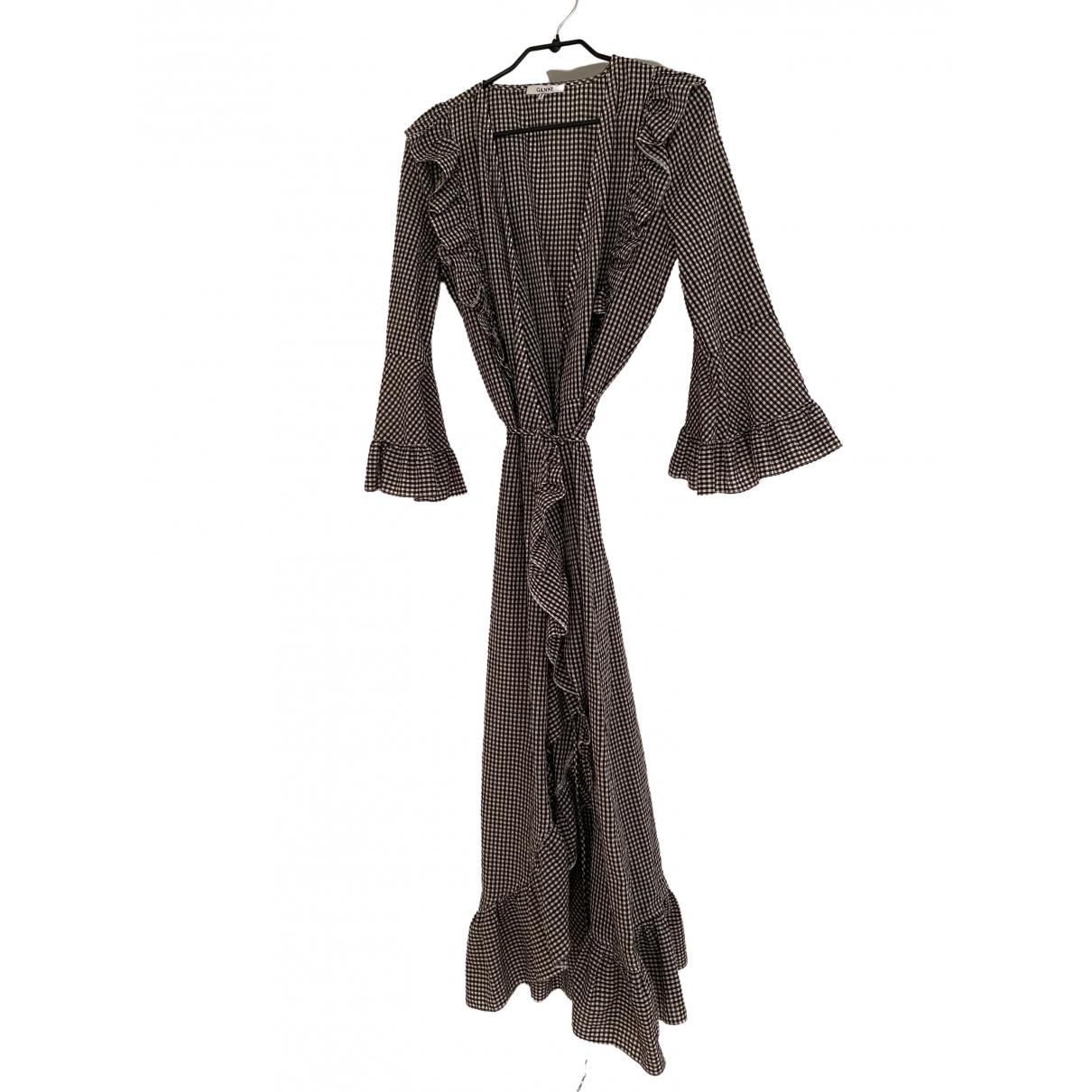 Ganni Spring Summer 2019 Kleid in  Schwarz Baumwolle
