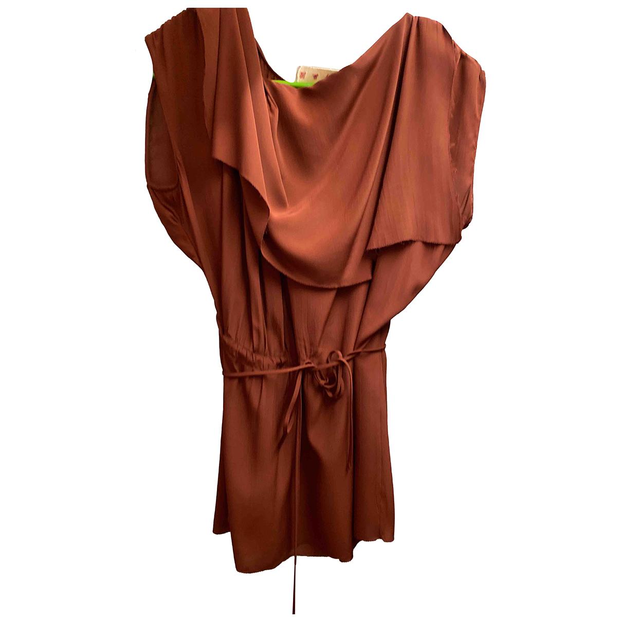 Marni - Top   pour femme en soie - marron