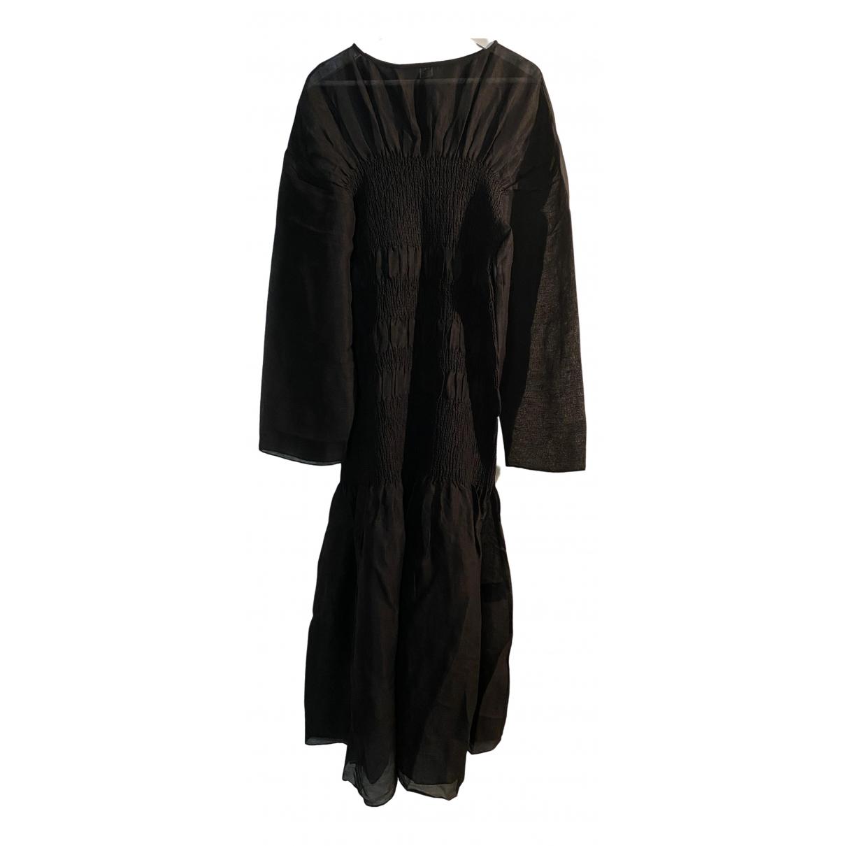 Toteme \N Kleid in  Schwarz Leinen