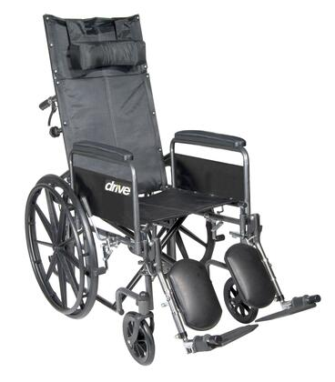 ssp18rbdfa Silver Sport Reclining Wheelchair With Elevating Leg Rests  Detachable Full Arms  18