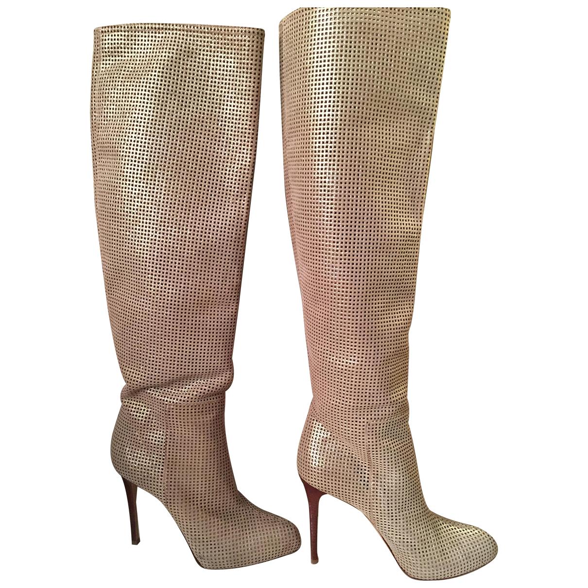 Le Silla \N Stiefel in  Gold Leder