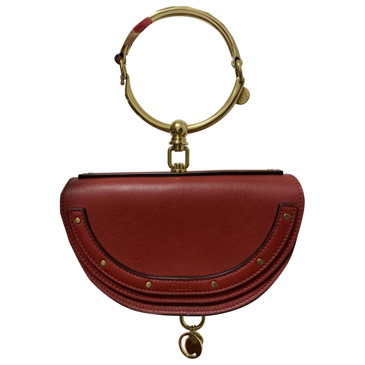 Chloé Bracelet Nile Red Leather handbag for Women \N