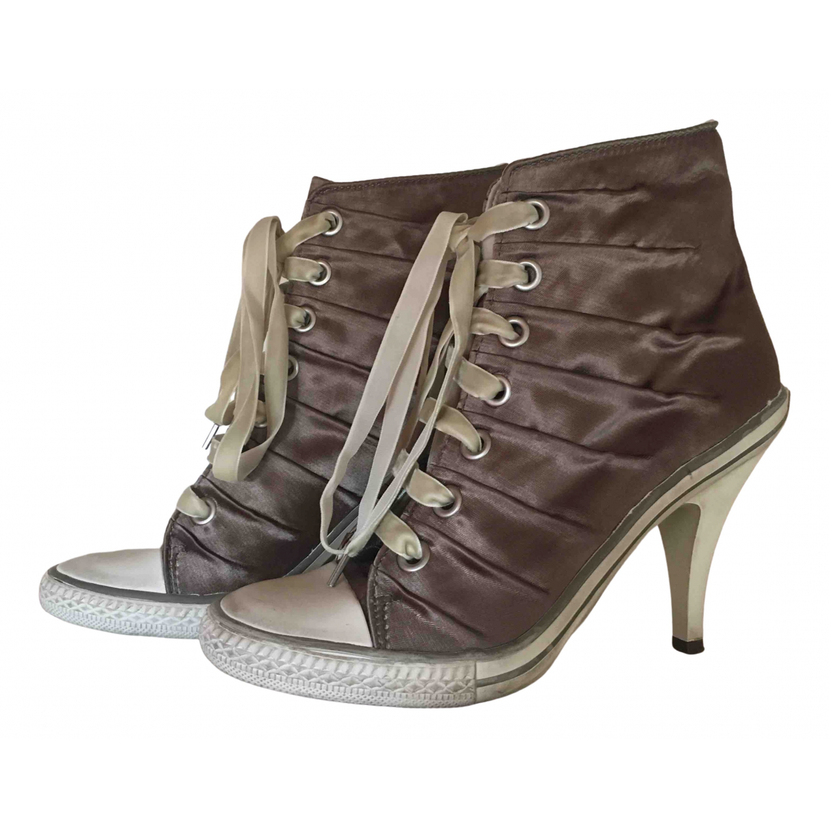 Ash \N Cloth Ankle boots for Women 38 EU