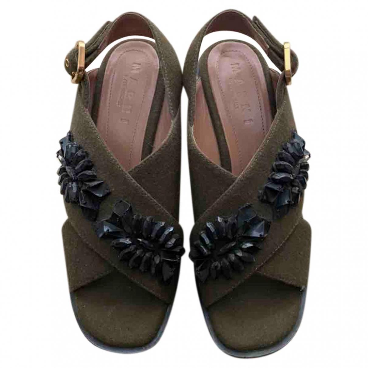 Marni \N Khaki Cloth Sandals for Women 4.5 UK