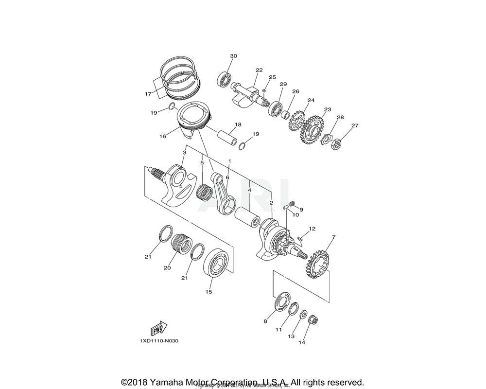 Yamaha OEM 1HP-13354-00-00 SPROCKET, DRIVE