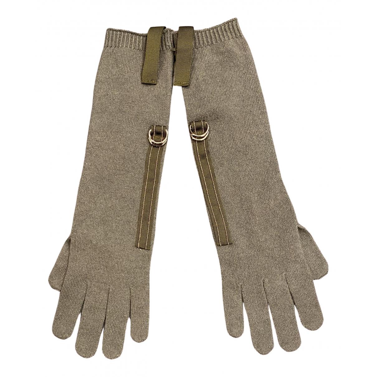 Brunello Cucinelli \N Handschuhe in  Grau Kaschmir