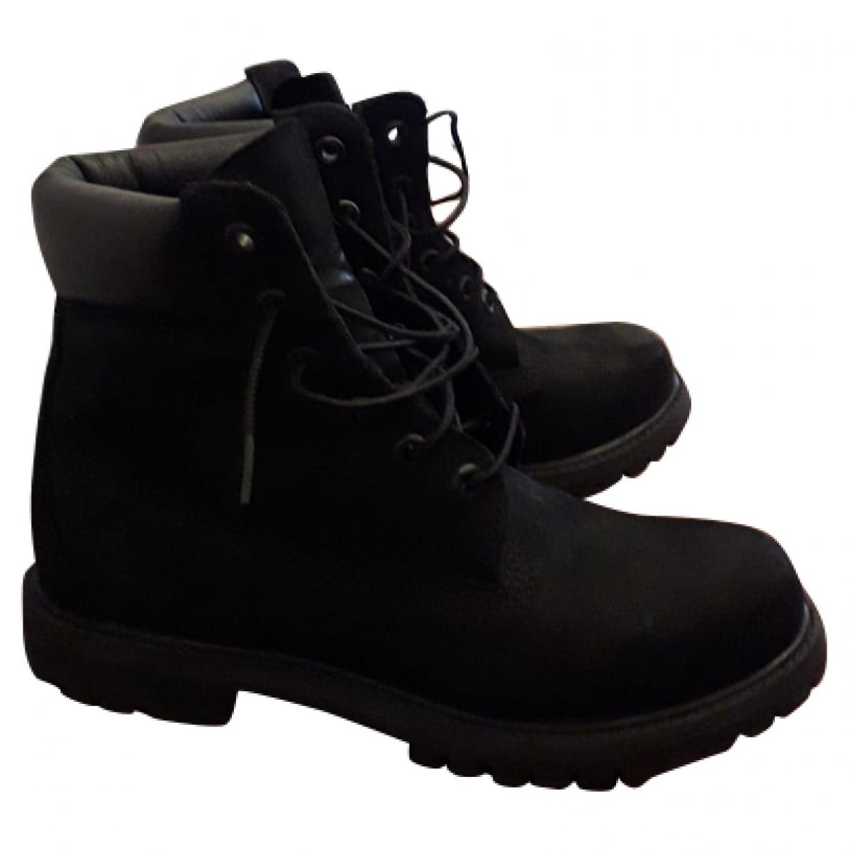 Timberland - Boots   pour femme en suede - noir