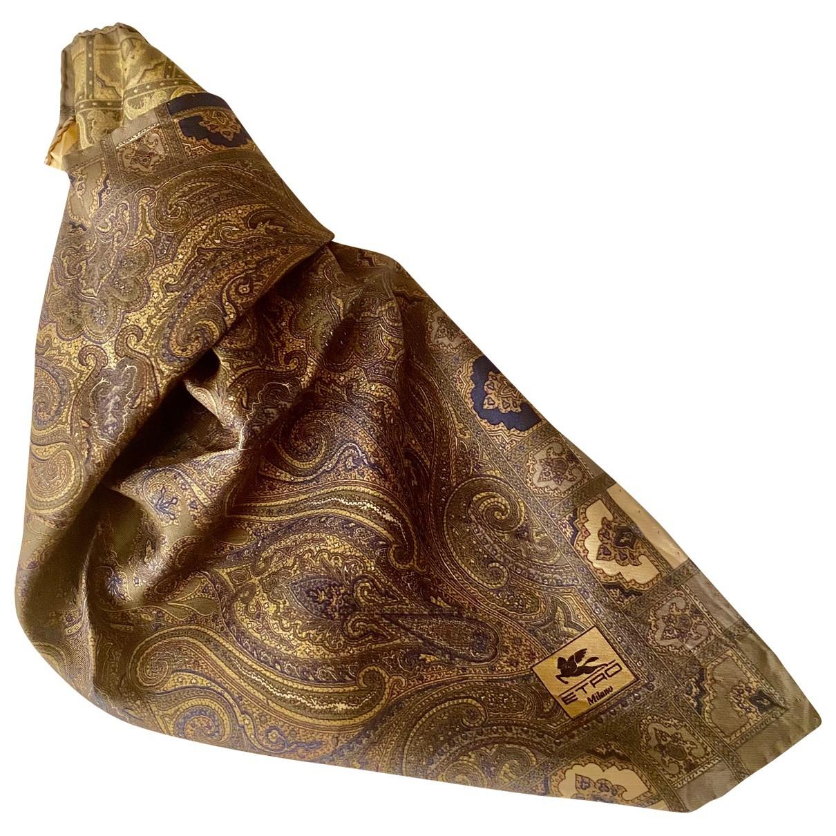 Etro N Brown Silk Silk handkerchief for Women N