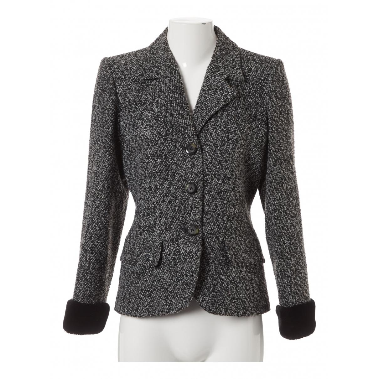 Yves Saint Laurent \N Grey Tweed jacket for Women 40 FR