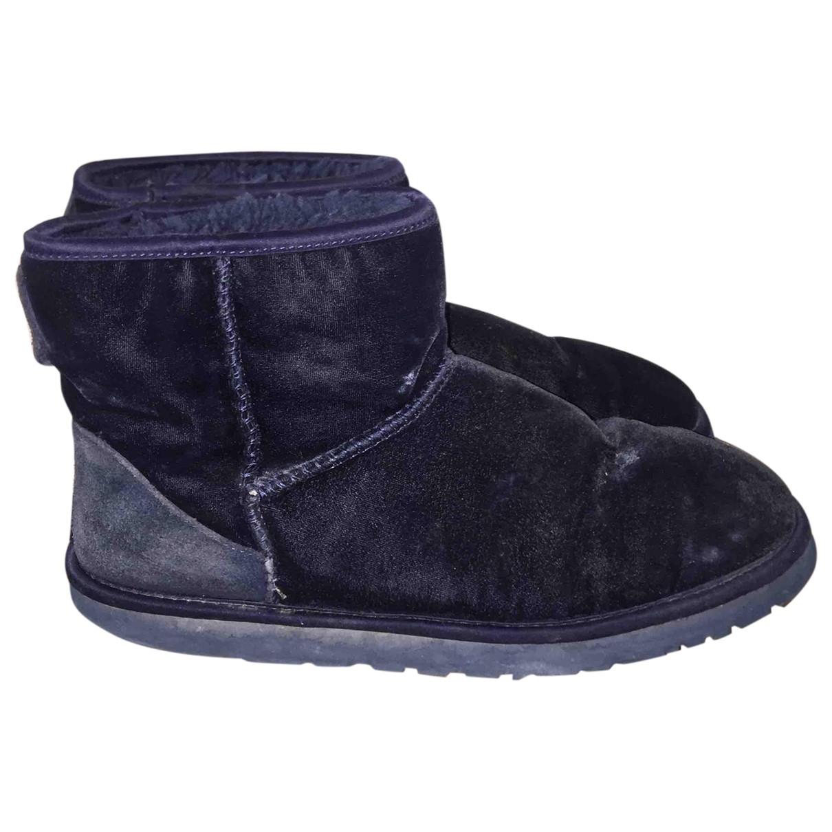 Ugg \N Navy Velvet Boots for Women 40 EU
