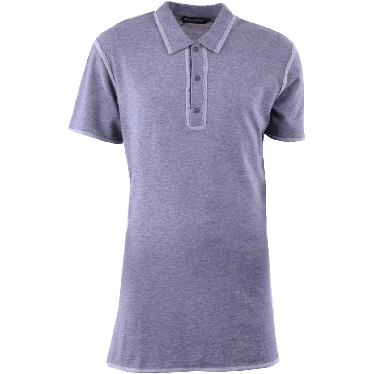 Dolce & Gabbana \N Grey Cotton Polo shirts for Men 44 IT