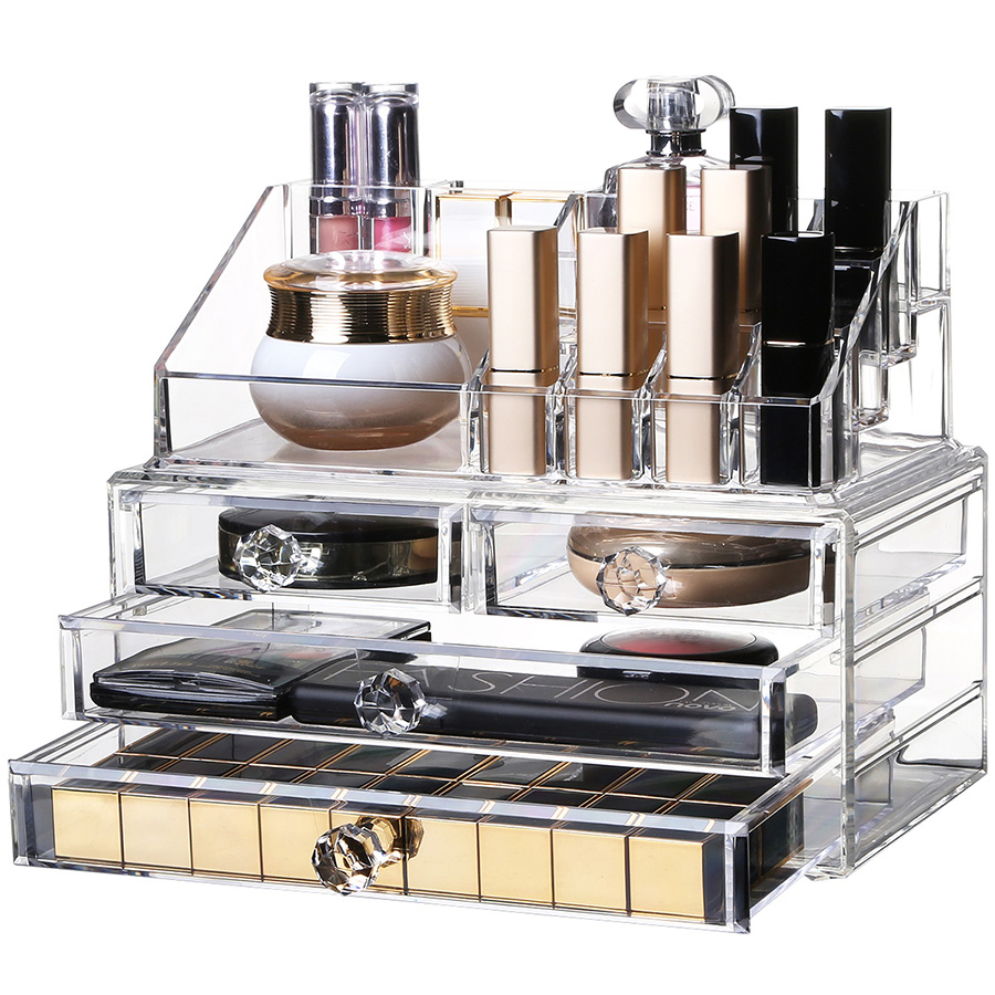 Firm Acrylic Material Environment Friendly 23.9*15.5*18.8 Cosmetic Storage Box