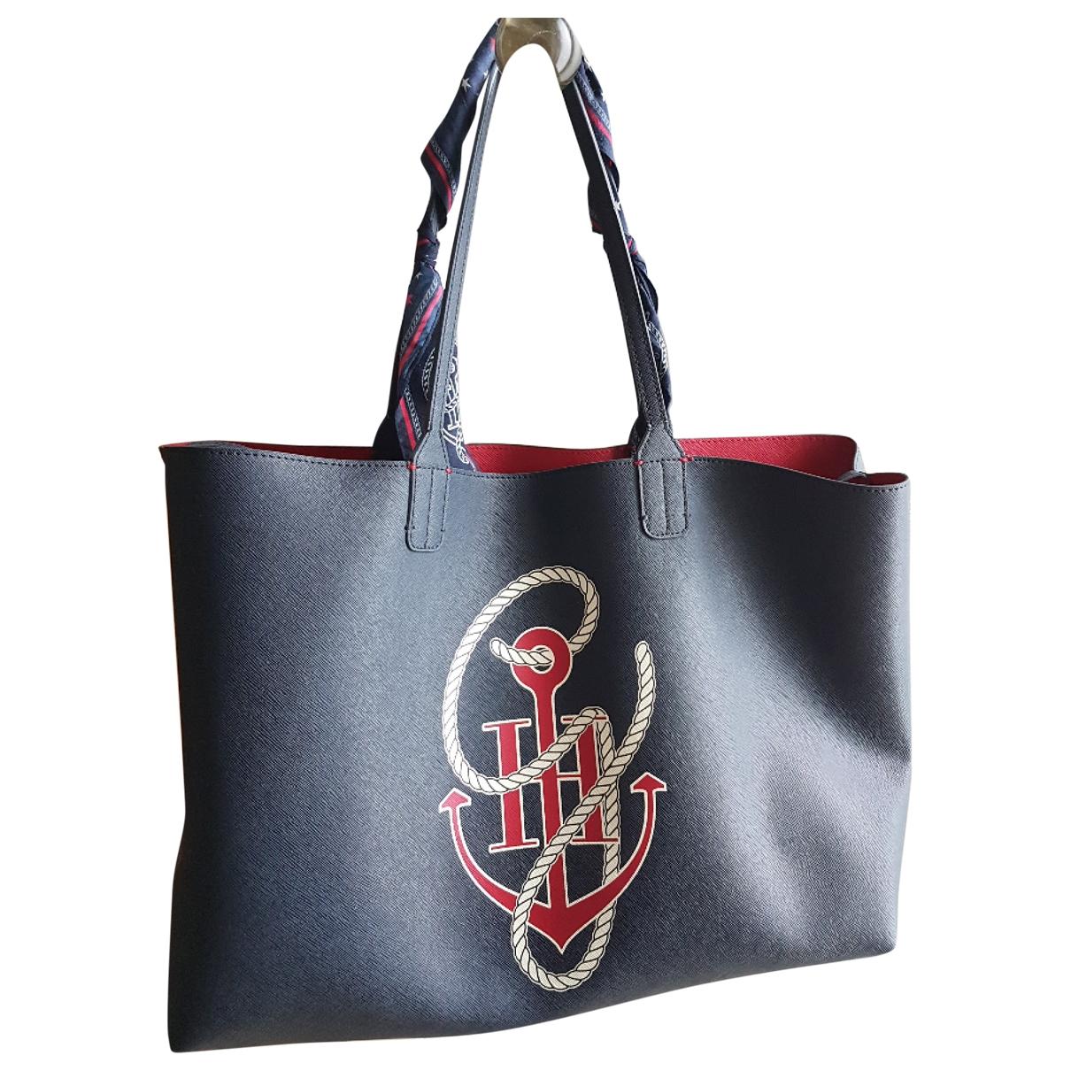 Tommy Hilfiger \N Blue Leather handbag for Women \N