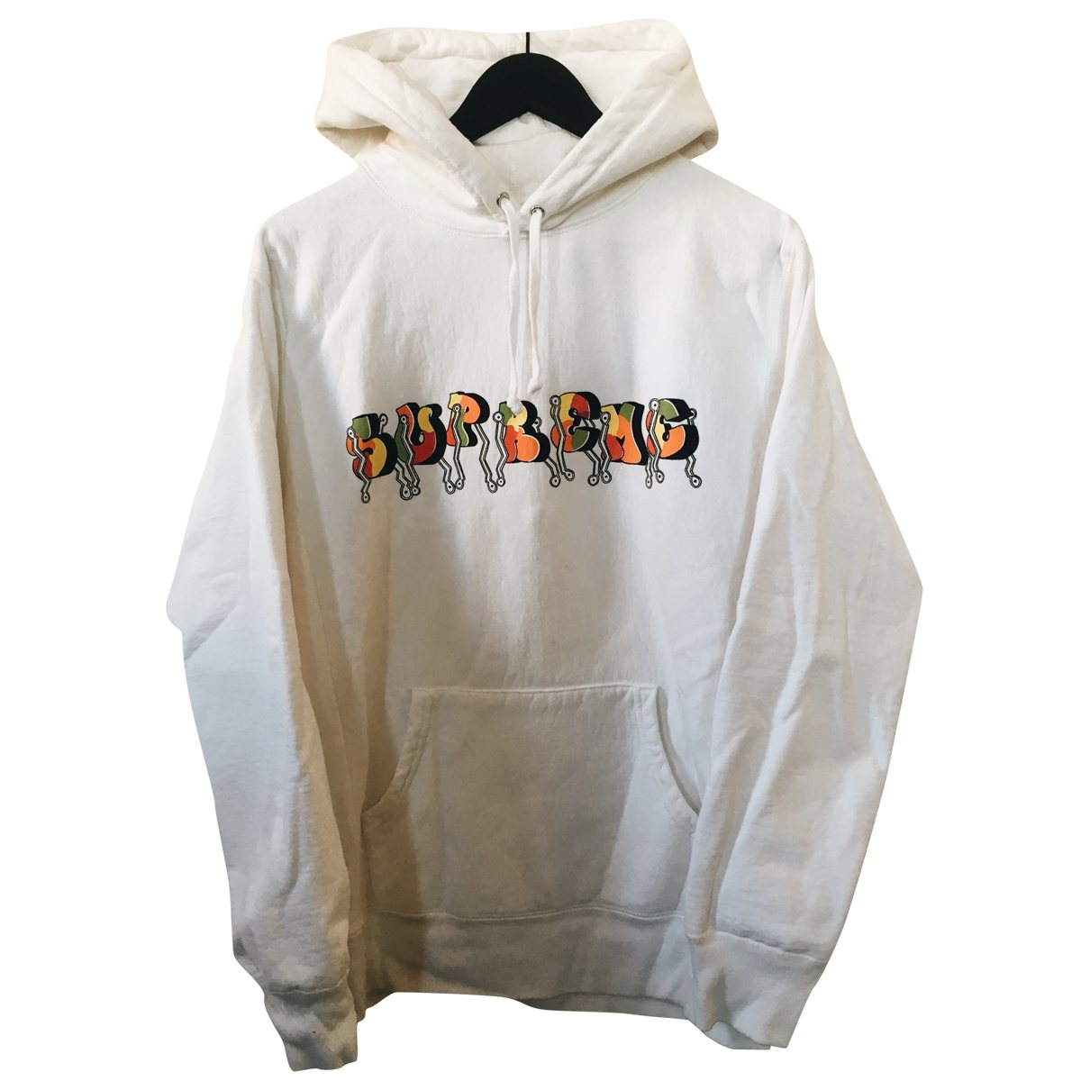 Supreme \N Pullover.Westen.Sweatshirts  in  Weiss Baumwolle