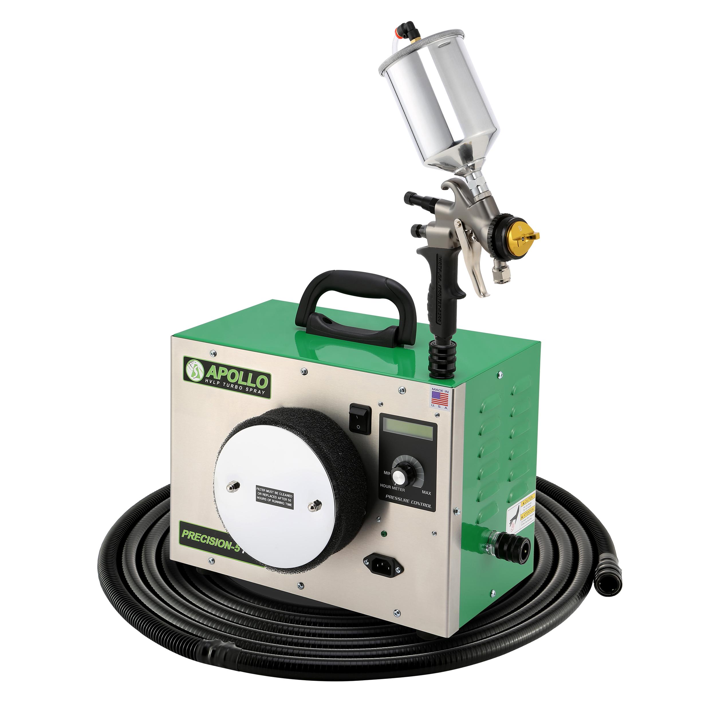 Precision-5 PRO HVLP Turbospray System with Gravity Feed Spray Gun