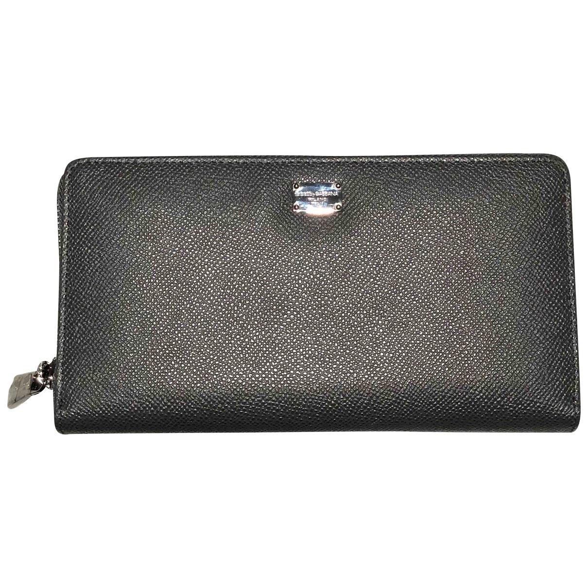 Dolce & Gabbana \N Portemonnaie in  Grau Leder