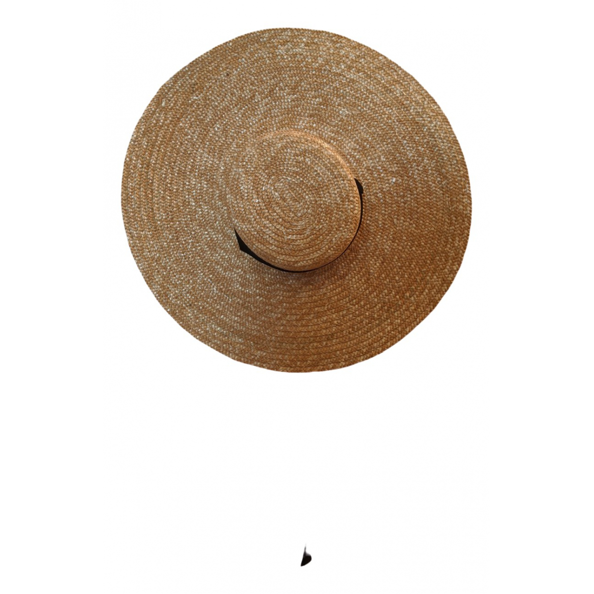 Non Signé / Unsigned \N Beige Wicker hat for Women 57 cm