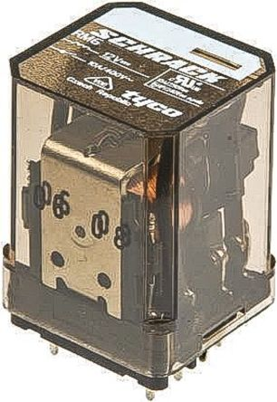 TE Connectivity , 24V dc Coil Non-Latching Relay 3PDT, 16A Switching Current Plug In, 3 Pole