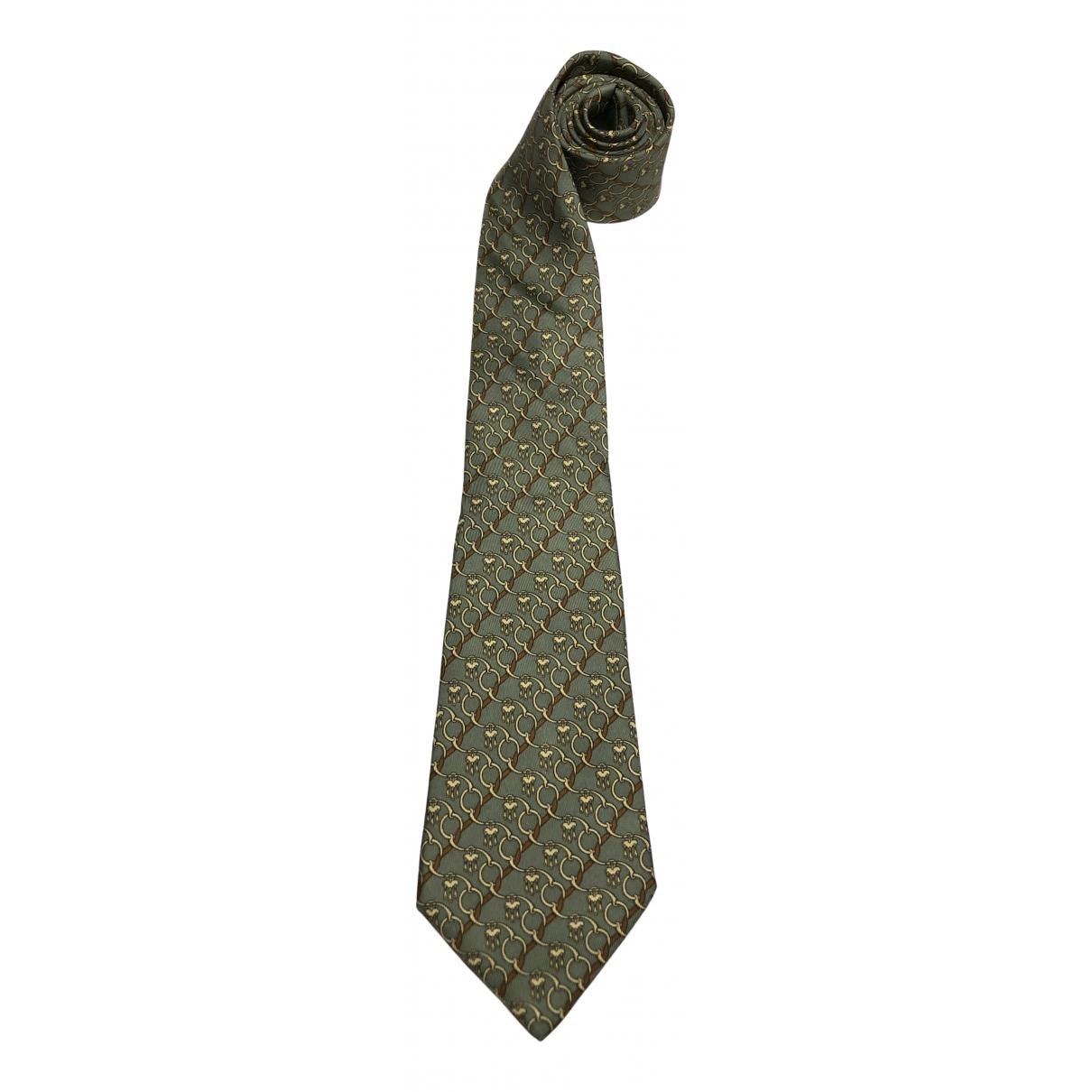 Hermes \N Krawatten in  Gruen Seide
