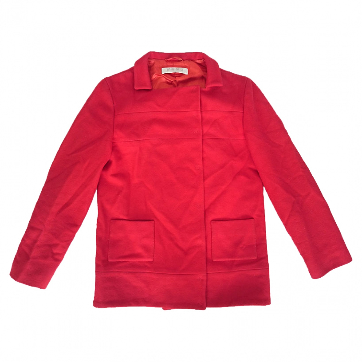 Miu Miu \N Red Wool jacket for Women 40 IT