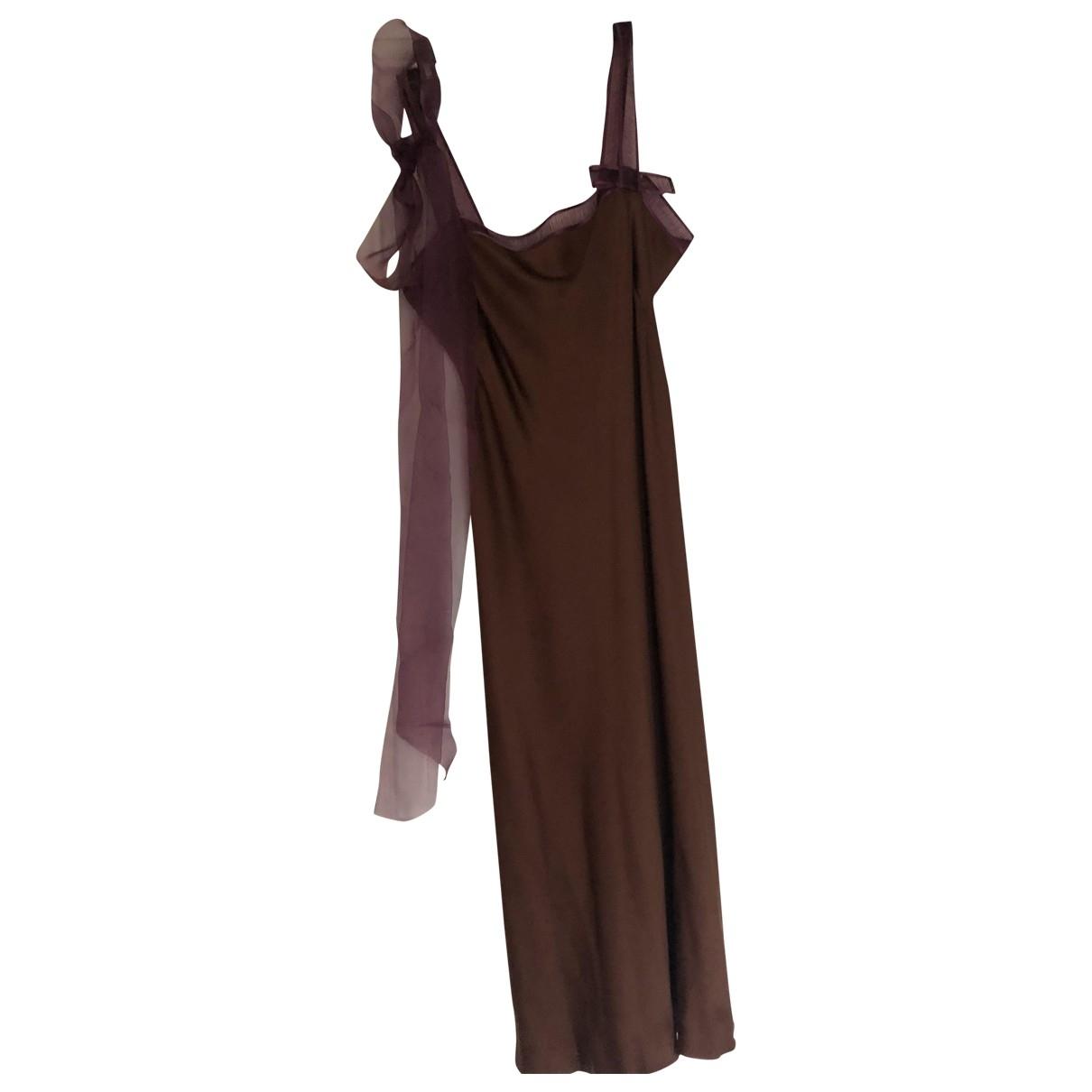 Maxi vestido de Seda Alberta Ferretti
