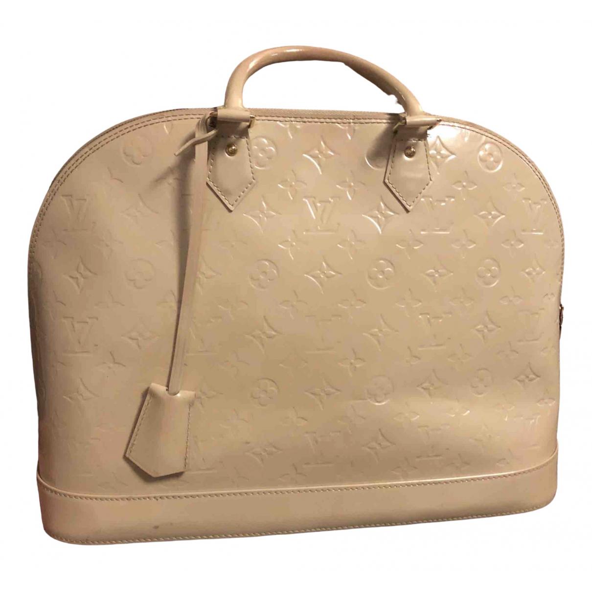 Louis Vuitton Alma Handtasche in  Ecru Lackleder