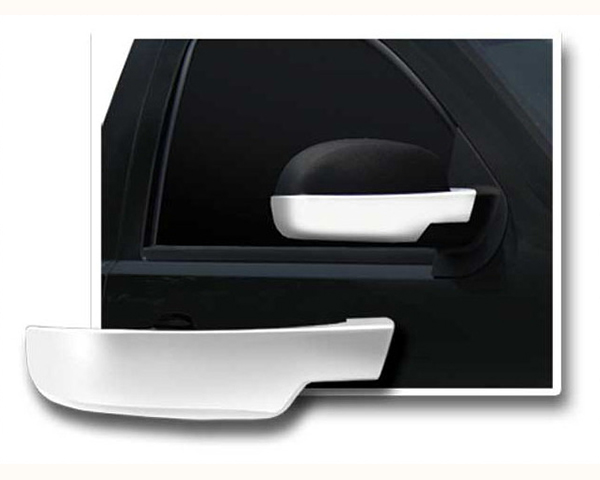 Quality Automotive Accessories Chrome Plated ABS Plastic 2-Piece Mirror Cover Set | Bottom Half GMC Sierra 2012