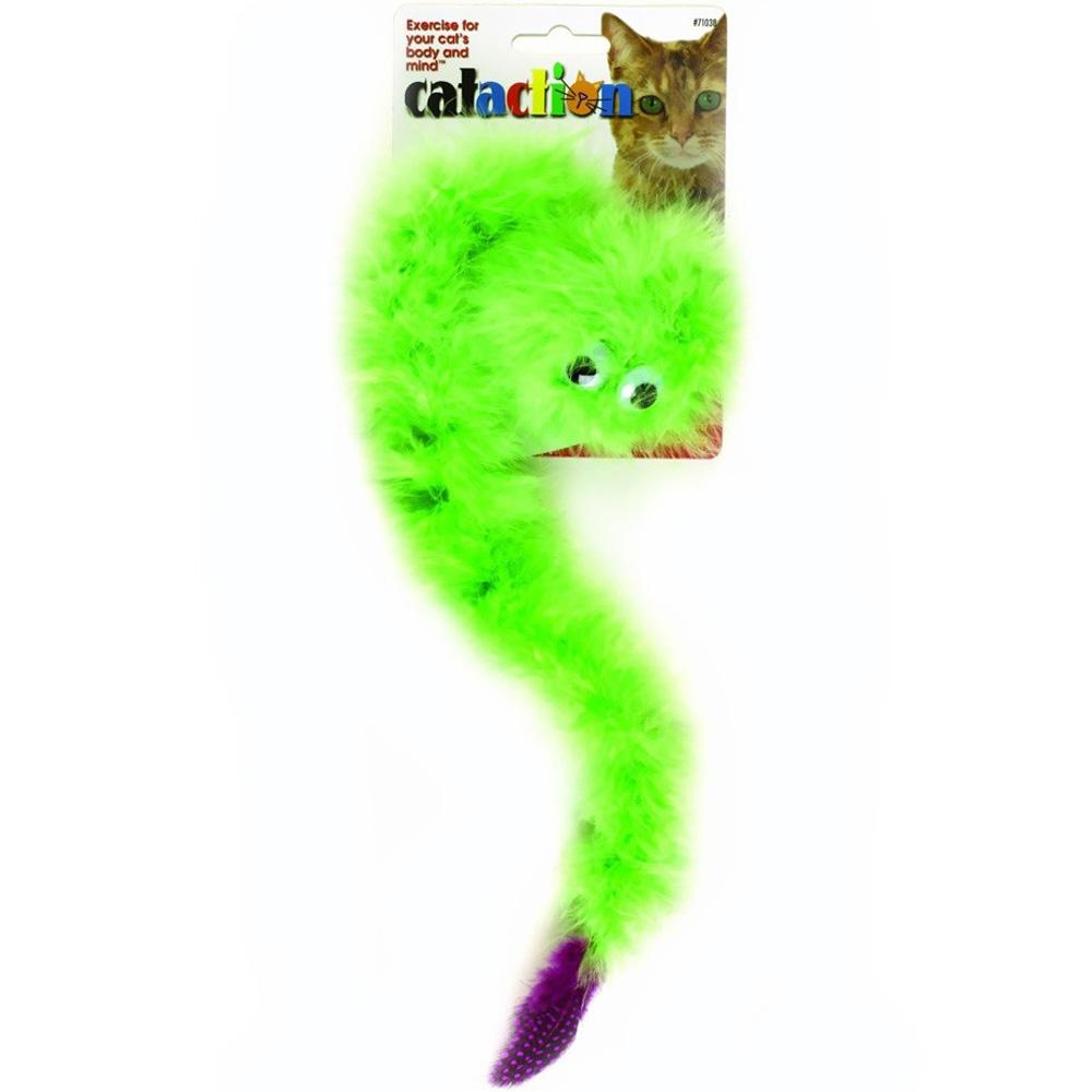 JW Pet Featherlite Catnip Boa Squeaky