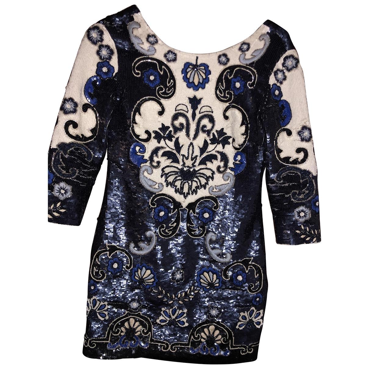 Needle & Thread \N Kleid in  Blau Mit Pailletten