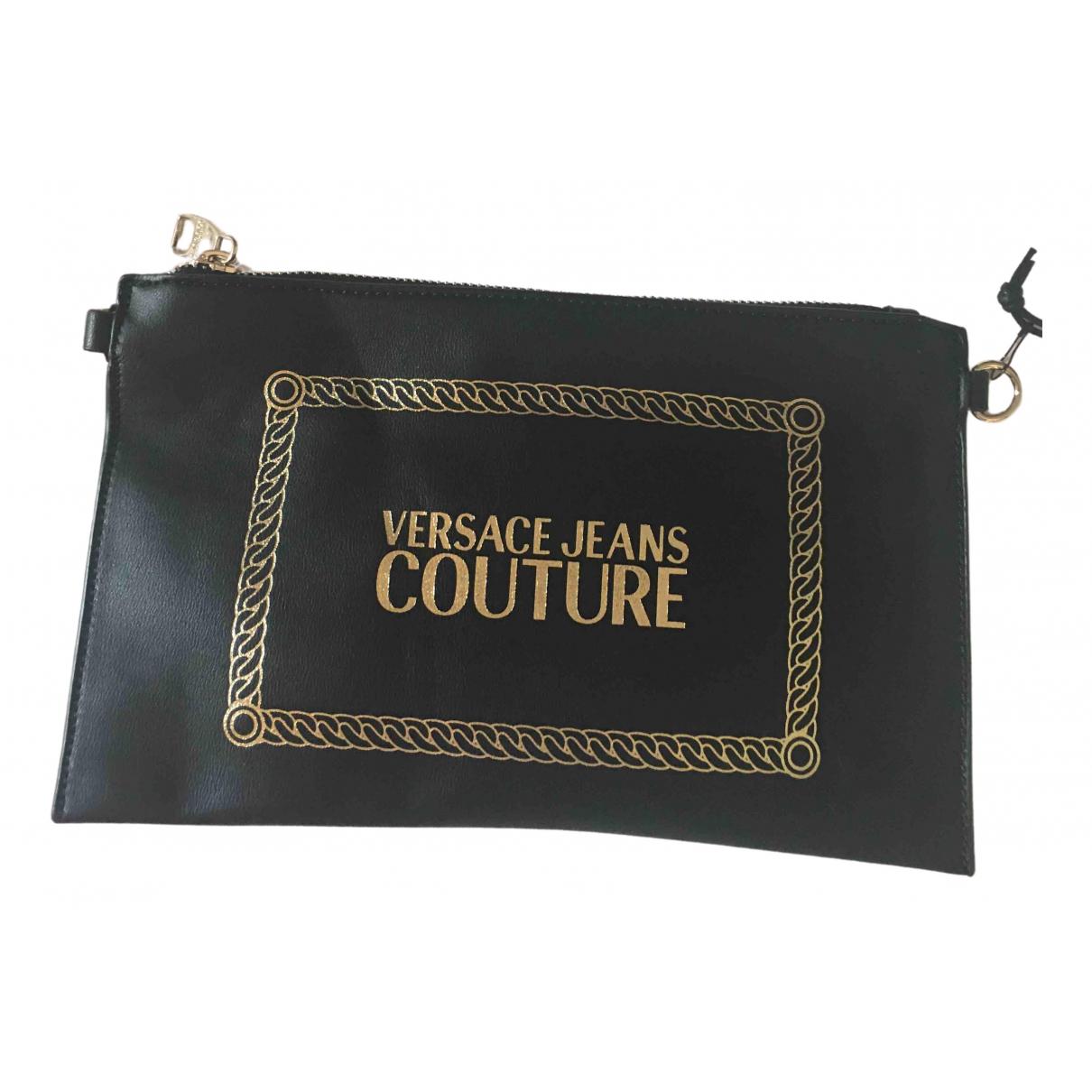 Versace Jeans \N Clutch in  Schwarz Leder