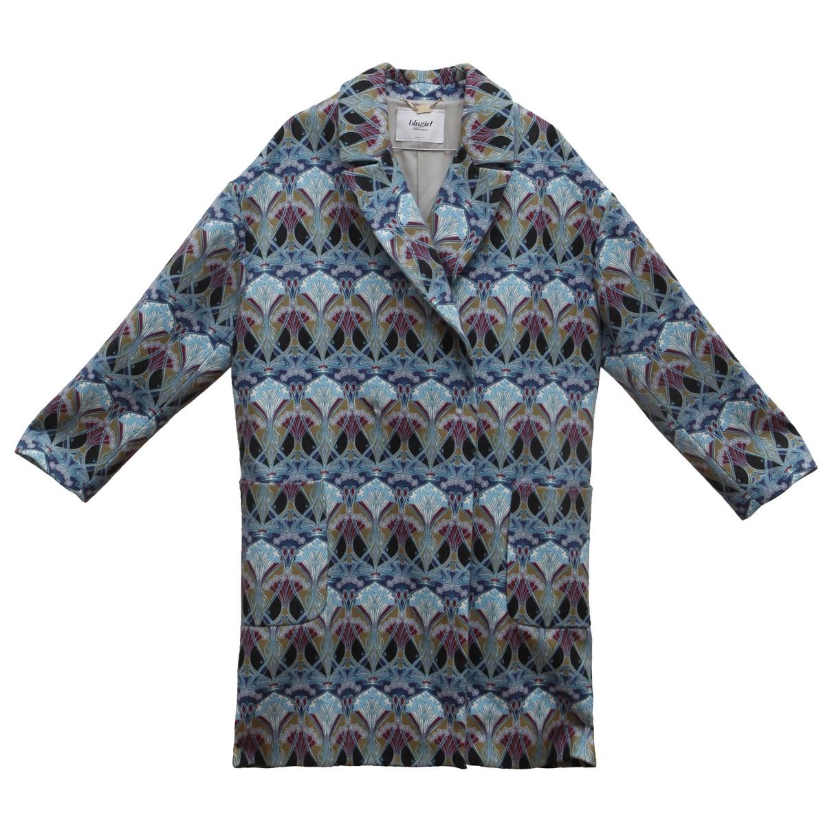 Blumarine \N Maentel in  Blau Polyester