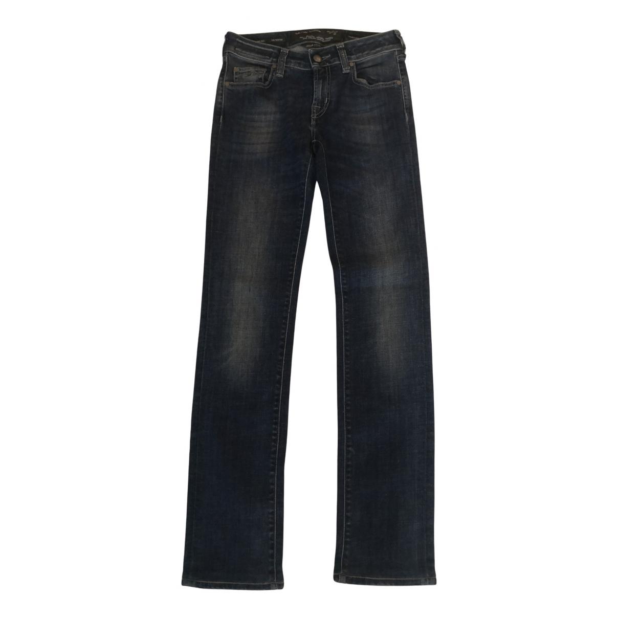 Jacob & Co N Blue Cotton Jeans for Women 26 US