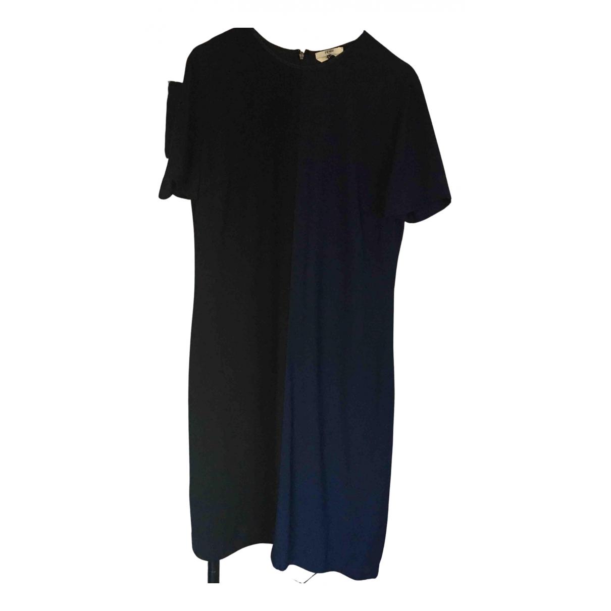 Fendi \N Kleid in  Marine Polyester
