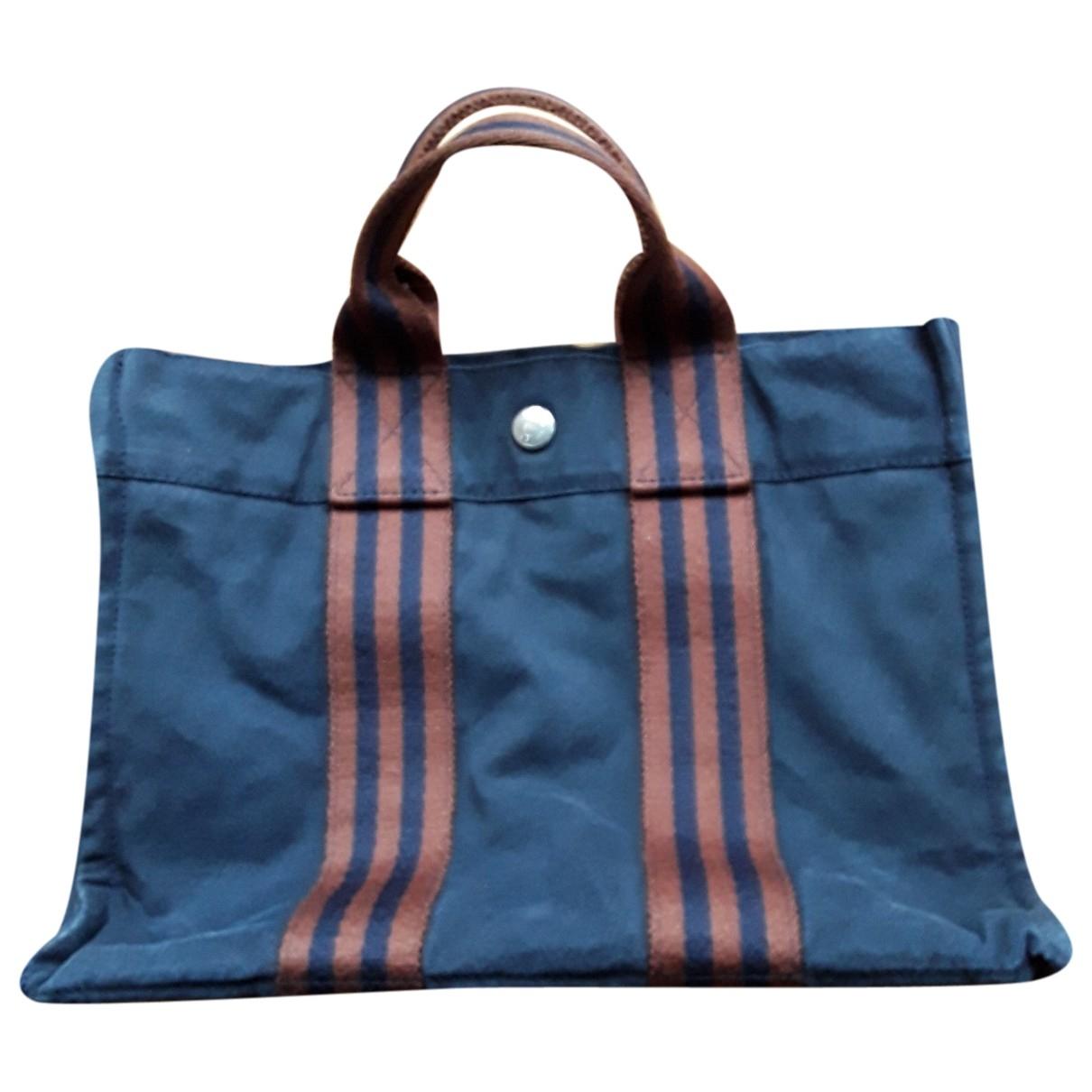 Hermes Toto Handtasche in  Blau Baumwolle