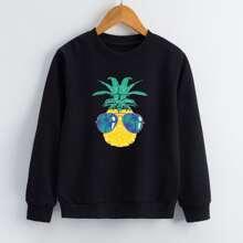 Sweatshirt mit Ananas Muster