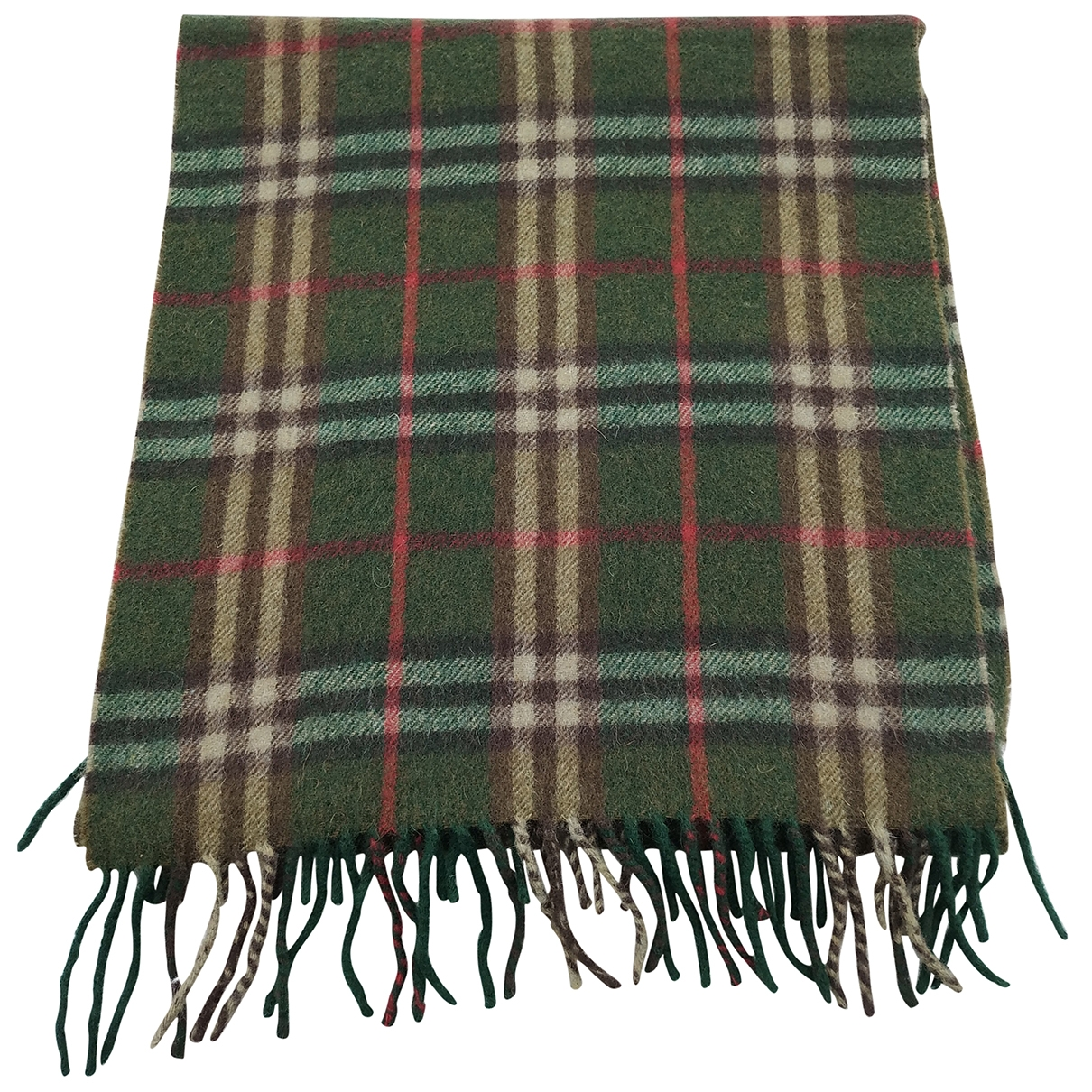 Burberry \N Green Cashmere scarf for Women \N