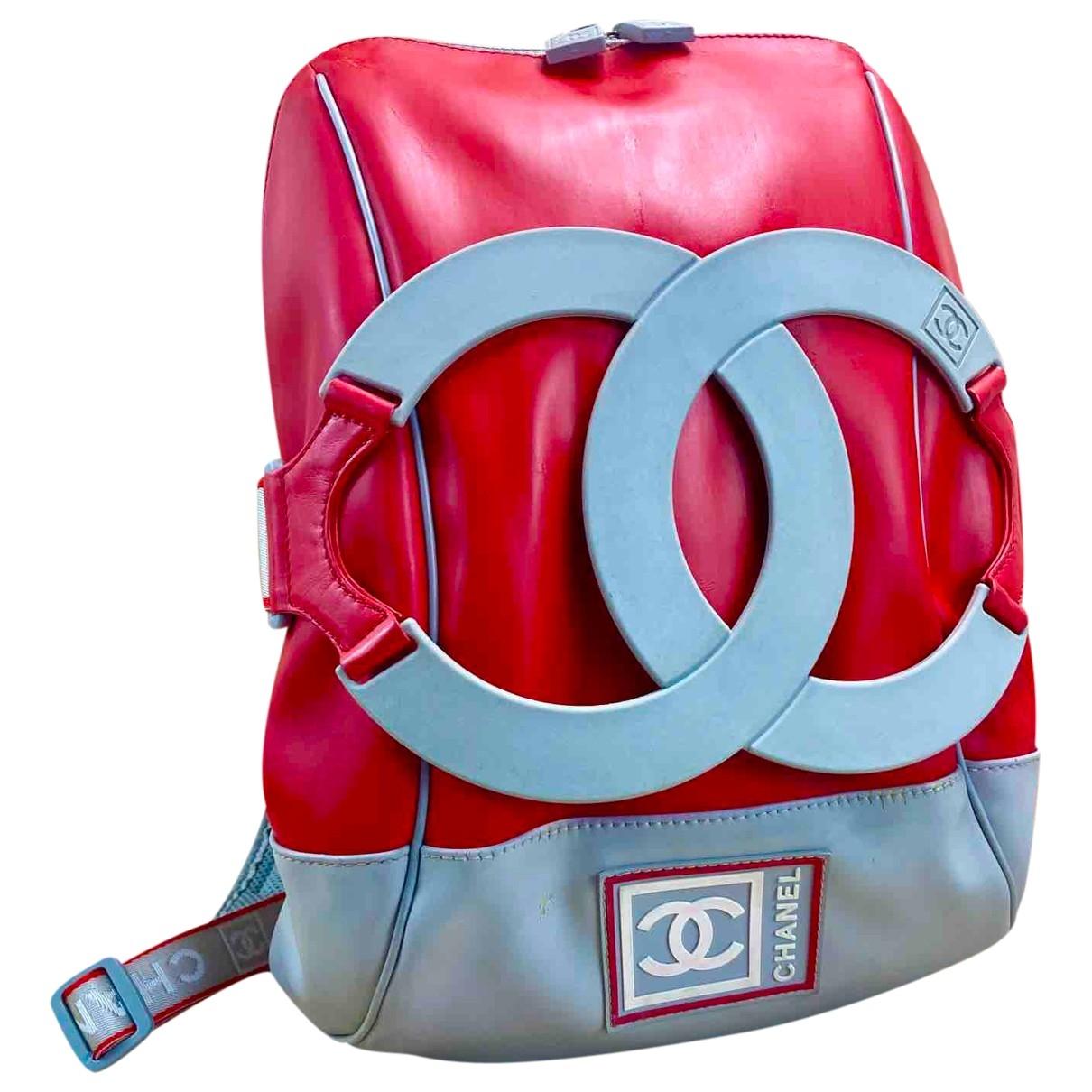Chanel \N Rucksaecke in  Rot Leder