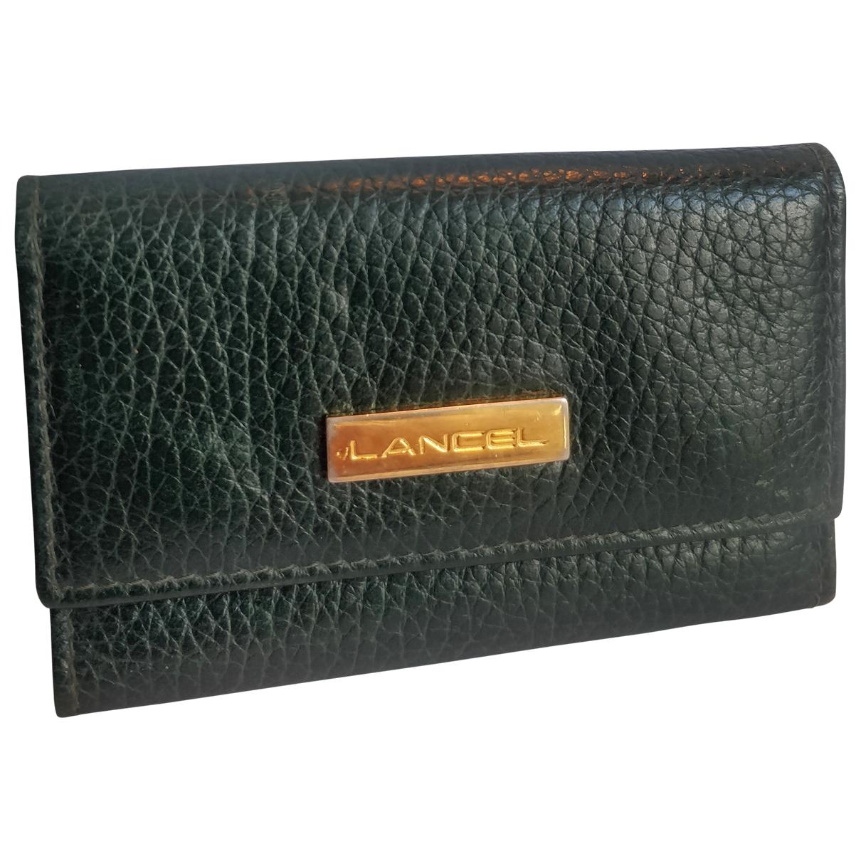 Lancel \N Green Leather Purses, wallet & cases for Women \N