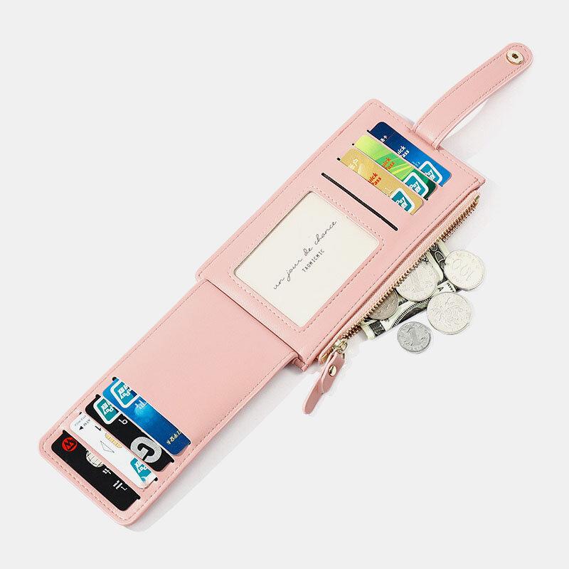 Women RFID Anti Theft 7 Card Slots Wallet Purse